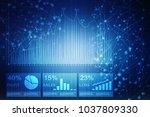 2d rendering stock market...   Shutterstock . vector #1037809330