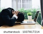 businessman failure project... | Shutterstock . vector #1037817214