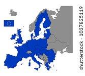 vector illustration of european ... | Shutterstock .eps vector #1037825119