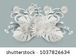 plants and flowers with paper... | Shutterstock .eps vector #1037826634