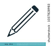 pencil icon vector logo template | Shutterstock .eps vector #1037828983