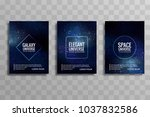 abstract galaxy colorful... | Shutterstock .eps vector #1037832586