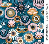 Folk Floral Seamless Pattern....