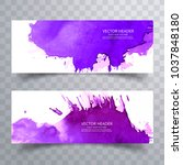 modern colorful watercolor... | Shutterstock .eps vector #1037848180