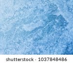 Aerial View Of Frozen Lake. Ic...