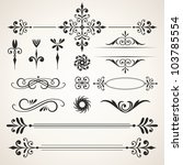 calligraphic design elements.... | Shutterstock .eps vector #103785554