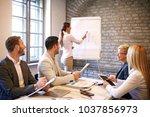 creative business team working... | Shutterstock . vector #1037856973
