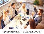 creative business team working... | Shutterstock . vector #1037856976