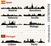 spain and portugal largest... | Shutterstock .eps vector #1037859058