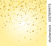golden stars background.... | Shutterstock .eps vector #1037859973