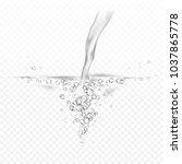 water splash isolated on... | Shutterstock .eps vector #1037865778