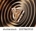 tron crypto currency symbol in... | Shutterstock . vector #1037865910