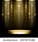 business presentation podium .... | Shutterstock .eps vector #1037873188