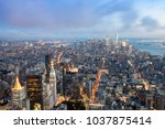 the buildings and skyline of... | Shutterstock . vector #1037875414