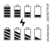 batteries indicators. vector... | Shutterstock .eps vector #1037877919