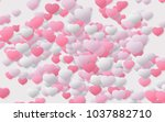 paper art style with red and... | Shutterstock . vector #1037882710