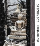 closeup shot at budha statue in ...   Shutterstock . vector #1037882860