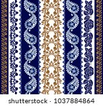 set of lace bohemian seamless... | Shutterstock .eps vector #1037884864