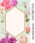 vertical card for mother's day... | Shutterstock .eps vector #1037887210