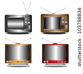 set of four retro tv's isolated ... | Shutterstock .eps vector #103788836