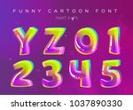 kids vector font in cartoon... | Shutterstock .eps vector #1037890330