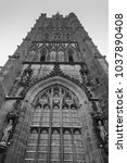 holl trinity church  broadgate  ... | Shutterstock . vector #1037890408