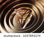 tron crypto currency symbol in... | Shutterstock . vector #1037893174