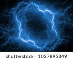 red and blue plasma ball ...   Shutterstock . vector #1037895349