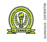 tennis league emblem ... | Shutterstock .eps vector #1037899798