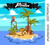 treasure island  treasure ... | Shutterstock .eps vector #1037904913