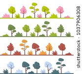 landscapes with abstract trees... | Shutterstock .eps vector #1037906308