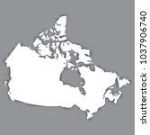 blank map of canada. blank... | Shutterstock .eps vector #1037906740