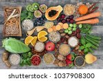 high dietary fibre health food... | Shutterstock . vector #1037908300