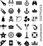 nautical and marine icons | Shutterstock .eps vector #103791413