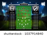 football or soccer playing... | Shutterstock .eps vector #1037914840