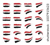 iraqi flag  vector illustration | Shutterstock .eps vector #1037915623