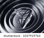 tron symbol in the center of... | Shutterstock . vector #1037919763
