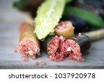 mixed color of fresh finger... | Shutterstock . vector #1037920978