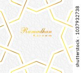 ramadan kareem greeting card.... | Shutterstock .eps vector #1037932738