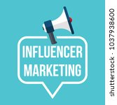 influencer marketing. badge... | Shutterstock .eps vector #1037938600