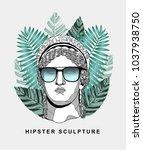 PRAGUE, CZ - March 4, 2018: Creative Sculpture. Vector illustration hand drawn. Hera / Juno | Shutterstock vector #1037938750