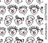 Red Nose Day. Seamless Vector...