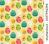 easter bright seamless pattern. ... | Shutterstock .eps vector #1037956396