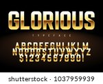 vector shiny golden display... | Shutterstock .eps vector #1037959939