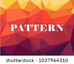 red purple polygonal mosaic... | Shutterstock .eps vector #1037964310