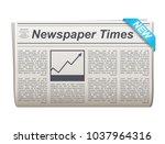 folded newspaper vector icon...   Shutterstock .eps vector #1037964316