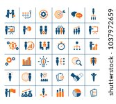universal business strategy... | Shutterstock .eps vector #1037972659