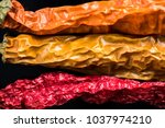 dried pepper vibrant and... | Shutterstock . vector #1037974210