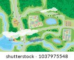 Suburban Map With Houses With...