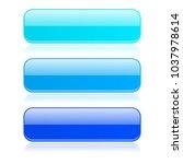 blue glass buttons. vector 3d... | Shutterstock .eps vector #1037978614